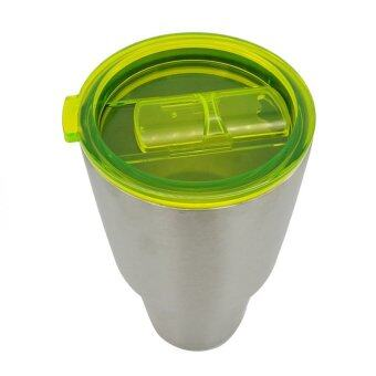 Hanyu Plastic Splash Spill Proof Lid for RTIC and YETI Rambler 30Oz Tumbler Cup Replacement Green