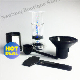 High Quality portable filter coffee maker / China HAO LE YA coffeemachine pot (similar AeroPress) + 350pcs coffee filter paper(White)