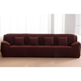 High Quality Store New Fashion Singal Textile Spandex 4 SeatersSofa Cover Furniture Protector Couch Slipcover HomeDecoration(coffee) - intl