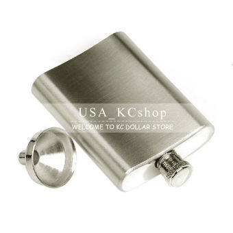 HL New 8Oz Stainless Steel Liquor Alcohol Hip Whiskey FlaskWithmatching + Funnel - intl