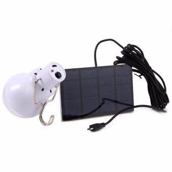 Home หลอดไฟ LED 15W 5V ชาร์จผ่านแผงโซล่าเซลล์ solarพร้อมหัวต่อชาร์จผ่านสายชาร์จมือถือ power bank