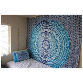 Harga Polyester Mandala Wall Tapestry 210x150cm (Blue thron Apple) - intl