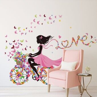 Harga Flower & Girl Removable Wall Sticker Vinyl Decal DIY Room Home Mural Decor - intl