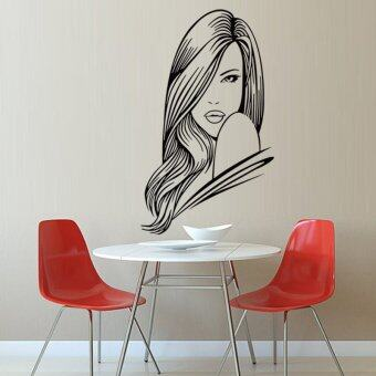 Harga Sexy Girl 3D Wall sticker Removable Home Decor Waterproof Fashion Decal For Bedroom,black50*80 - Intl