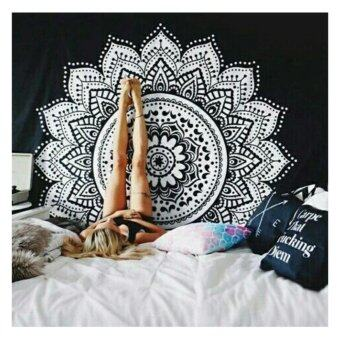 Harga New Printed Tapestry Mandala Wall Art, Hanging Wall Tapestry for Wall Decoration Hippie Tapestry Beach Towels,Black and White, 150X150CM - intl