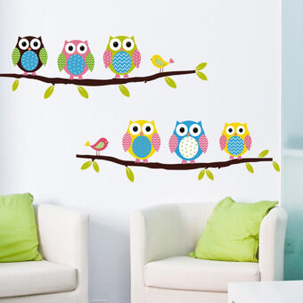 Harga Gracefulvara Cute Owl DIY Removable Vinyl Kids Room Wall Stickers Decor Mural Decal
