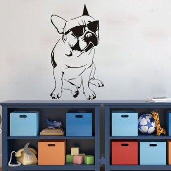 Harga Removable Cool French Bulldog Dog Wall Sticker Mural Decal Art Home Room Decor - intl