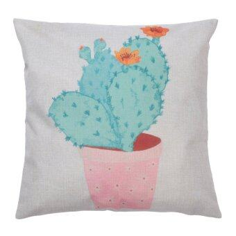 Harga Creative Cactus Plant Pattern Cotton Pillow Cover Pillow Cushion - intl