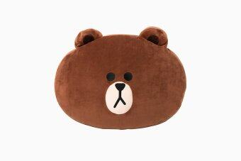Harga [Shipping from KOREA] LINE FRIENDS soft cushion 42 cm / BROWN (LINE FRIENDS Original) - intl