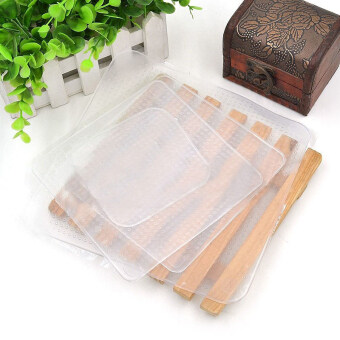 Harga Homegarden Silicone Wraps Seal Kitchen Tools Set of 4 (Clear)