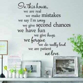 Harga ZOOYOO Black Color Quote Wall Stickers Removable Art Vinyl Wall Sticker Decal Mural Home Room Decor