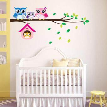 Harga DIY Owl Birds Wall Stickers Removable Home Decor Vinyl Mural Decal - intl