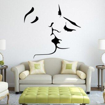 Harga Romantic Women Man Kiss Stickers Wall Decal Decor Home&Living Decoration Waterproof Sticker For Baby Gift57*55cm - Intl