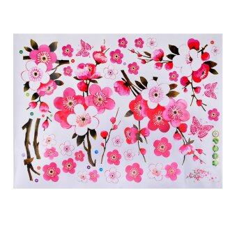 Harga 360WISH DIY Removable Sakura Flower Bedroom Vinyl Decal Art Decor Wall Sticker 45*60CM Multicolored (EXPORT)