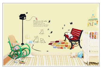 Harga Cat Wallpaper Removable DIY Wall Sticker Art Vinyl Quote Decal Mural Home Room Decor