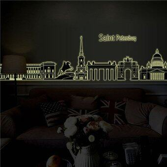Harga Removable Wall Stickers Wall Decals Castle PVC Luminous Wall Stickers