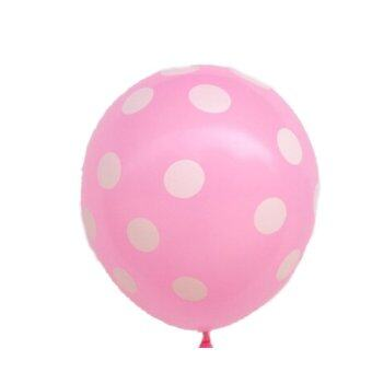 Harga Latex Balloon Polka Dot 10pcs Pink - Intl