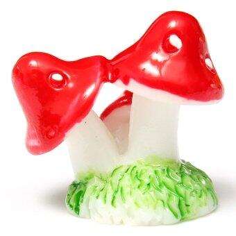 Harga 2pcs Mini Mushroom for Miniature Plant Pots Fairy Party Decor Garden Red