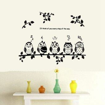 Harga Cute Removable Sticker Owl Birds Branch Child Home Wall Mural Decal Decor Design