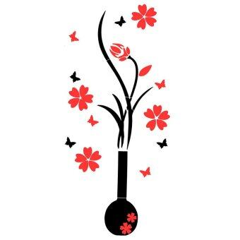 Harga DIY Flower Decal Vinyl Decor Art Home Room Removable Mural 3D Wall Stickers Door extra small - Intl