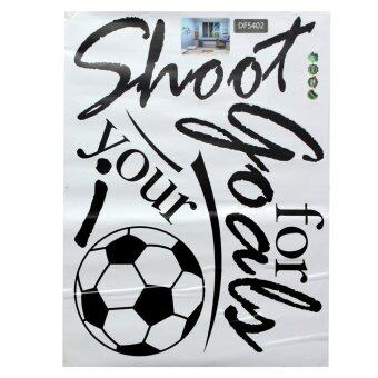 Harga Removable Football Soccer Ball Letter Wall Stickers Art Decal Home Room Decor - Intl