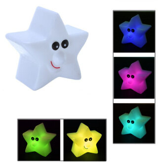 Harga Novelty Desk Lamp Star Shaped Color Charging Kids LED Night Light