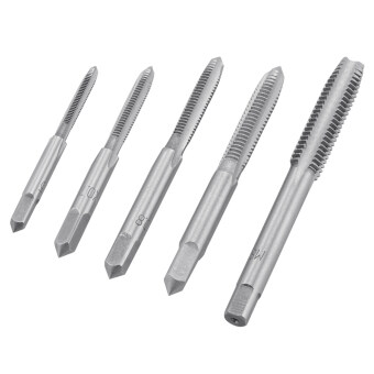 Harga ดอกสว่าน 5 ชิ้น HSS 4142 Stright Flute Machine Thread Metric Taps Right Hand Drill Bit M3 M4 M5 M6 M8 Wood Tools