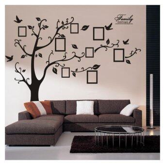 Harga Large 3D DIY Photo Tree Bird PVC Wall Decal Family Sticker Mural Art Home Decor