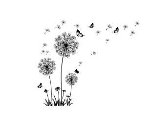 Harga Wall Stickers Wall Decals Romatic Dandelion PVC Wall Stickers