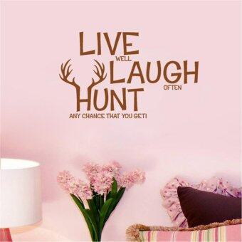 Harga Live Well Laugh Often Hunt Any Chance That You Get Inspirational Quotes Wallpaper Living Room Decals Bedroom Wall Stickers Vinyl Home Decor Mural Art Posters - intl