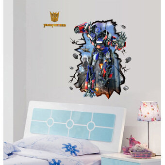 Harga 3D Transformers Optimus Prime Wall Sticker Decal Mural Removable Art Decor