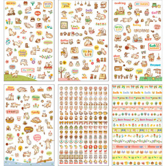 Harga HomeGarden Cartoon Cat Paper Sticker for Diary Decor 6Sheets Cat