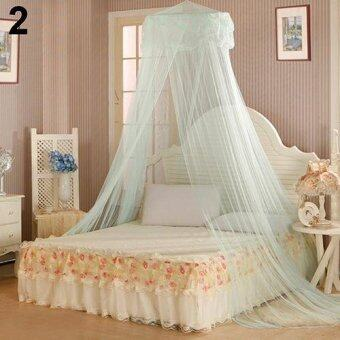 Harga Sanwood House Bedding Decor Summer Sweet Style Round Bed Canopy Dome Mosquito Net (Green) - intl