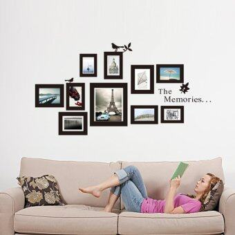 Harga 10x Picture Photo Frame Wall Mural Wedding Frames Sticker Vinyl Decal DIY