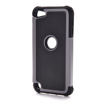 Harga HomeGarden Rubber Case For Ipod Touch 5 5th (Black + Grey) - Intl