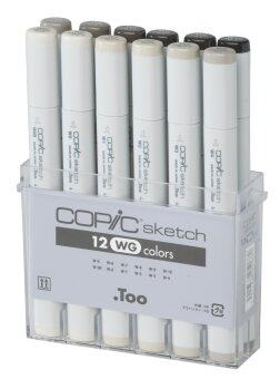 Harga Copic Markers 12-Piece Sketch Set/ Warm Gray