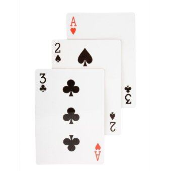 Harga Aukey Magic Three Card Poker (White). - intl