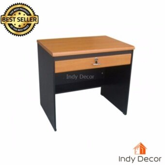 Indy decor โต๊ะทำงาน 1 ลิ้นชัก ขนาด 80 ซม.รุ่น Indy-ฺD80สีเชอรี่/ดำ (PVC)