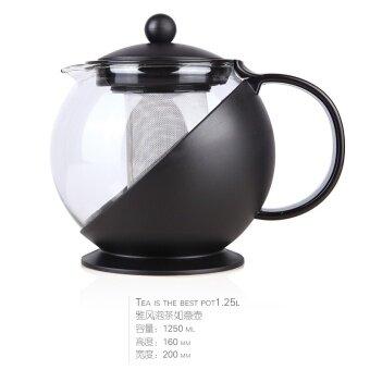 กรองแก้วชา Infuser กาต้มน้ำหม้อดอกไม้กาน้ำชา