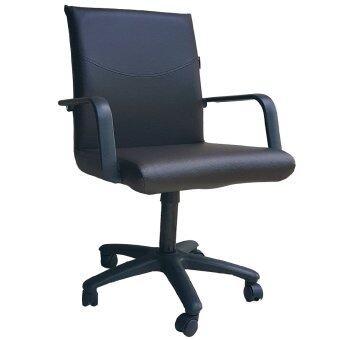 Inter Steel เก้าอี้สำนักงาน รุ่น Office Chair01 (เบาะหนังสีน้ำตาลล้วน )