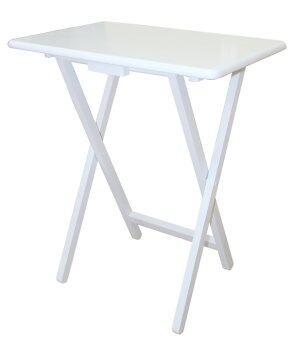 Intrend Design โต๊ะโน๊ตบุ๊ค ขาพับได้ ไม้ยางพารา - สีขาว
