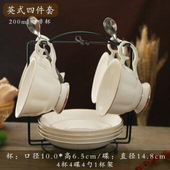 Jianyue มีชั้นวางถ้วยและจานรองถ้วยกาแฟจีนกระดูก