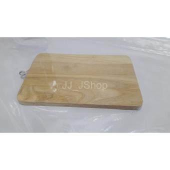 JJ_Jshop เขียงไม้ทรงสี่เหลี่ยม ขนาด 16x22 cm.พร้อมหูแขวนไม้ธรรมชาติ