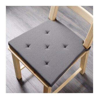 JUSTINA แผ่นรองนั่ง สีเทา (ขนาด 35/42x40x4.0 ซม.)