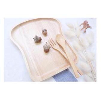 ประกาศขาย KING จานไม้รูปขนมปังและช้อนขนม