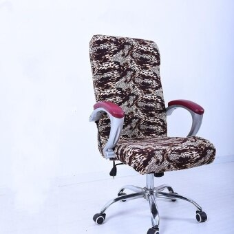 L Spandex Office Chair Cover Slipcover Armrest Cover Computer SeatCover Stool Swivel Chair Elastic(Chair is NOT included) - intl