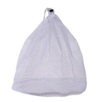 Laundry Bag Clothes Washing Net Bra Lingerie Wash(White)-S