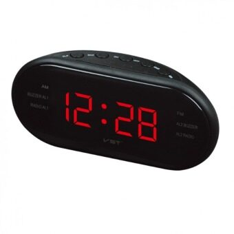 LED Alarm Clock Radio Digital AM/FM Radio With EU Plug (Black) -intl