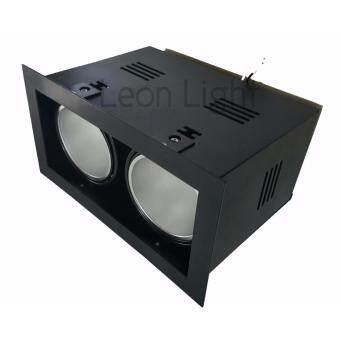 Leon Light โคมไฟ ดาวไลท์ ดาวไลท์ฝังฝ้า Downlight 2xE27 รุ่นLGDL-DL3 - BK