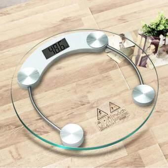 LIFANGCAI Electronic weight scale เครื่องชั่งน้ำหนักดิจิตอล กระจกใส-white